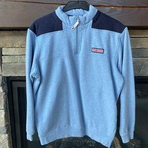 VINEYARD VINES half zip sweater with shoulder pads